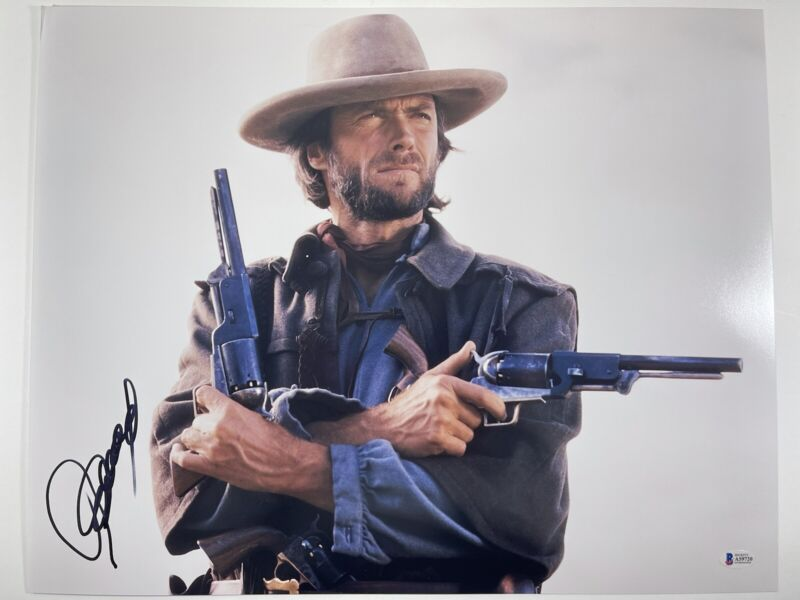 CLINT EASTWOOD SIGNED THE OUTLAW JOSEY WALES 16x20 PHOTO BECKETT BAS LOA #A59720