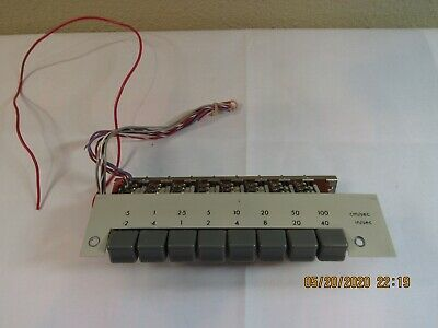 Vintage Electronics 8-button Push-button Module Panel Mount W Wiring