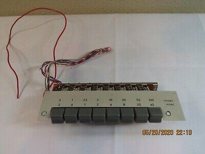 Vintage Electronics 8-button Push-button Module Panel Mount W Wiring