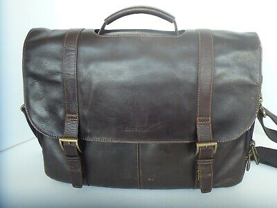 Samsonite Colombian Leather Flap-over Messenger Bag Laptop.