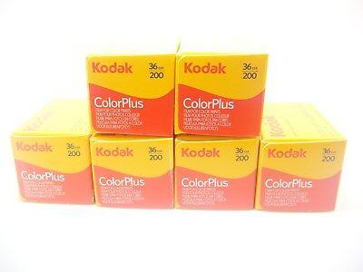 6 x KODAK COLORPLUS 200 35mm 36Exp CHEAP COLOUR PRINT FILM -1st CLASS ROYAL MAIL
