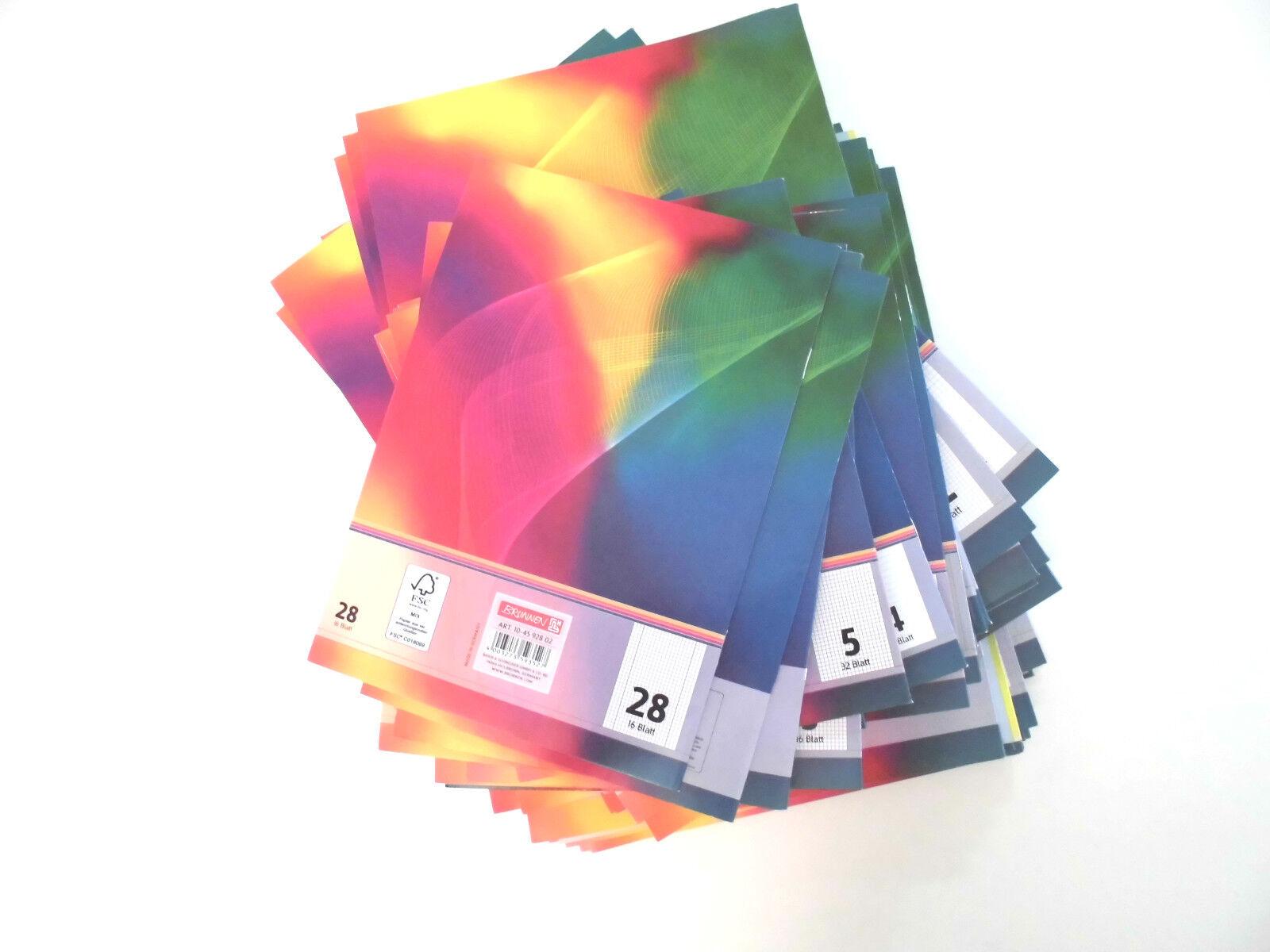 Schulheft Brunnen 16 Blatt DIN A4 verschiedene Lineaturen
