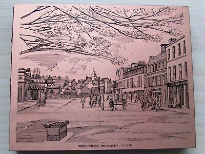 COPPERWARE DESIGNS IRELAND COPPER PLAQUE OF MARKET STREET, DOWNPATRICK, CO.DOWN