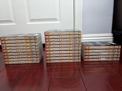 Attack on Titan incomplete English manga set [1-25] slightly used + Handbook