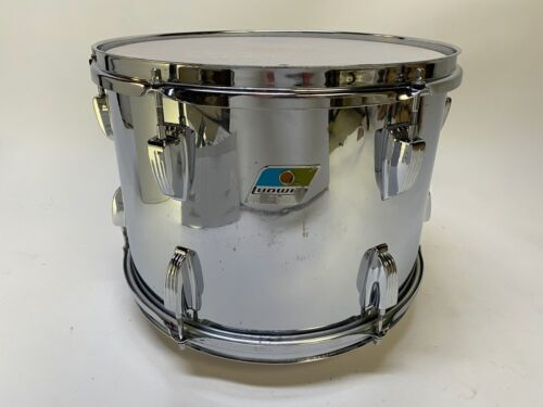 vintage Ludwig 14x10 tom chrome over wood B/O pointed badge