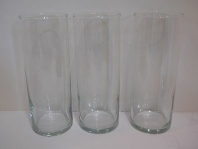 3 Clear Glass Cylinder Tealight Candle Holders ...