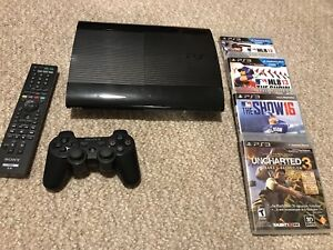 PS3 PlayStation 3 Slim 250 GB with Remote, Controller and Games