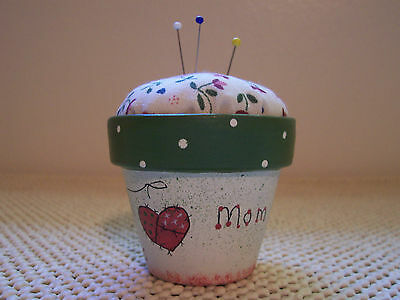 "Pin Cushion Hand Painted 3"" Mom... Mender Of Broken Hearts Great Mother's Day"