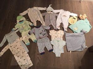 Lot vêtements pour nouveau-né