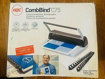 Gbc Combbind C75 Plastic Comb Binding Machine