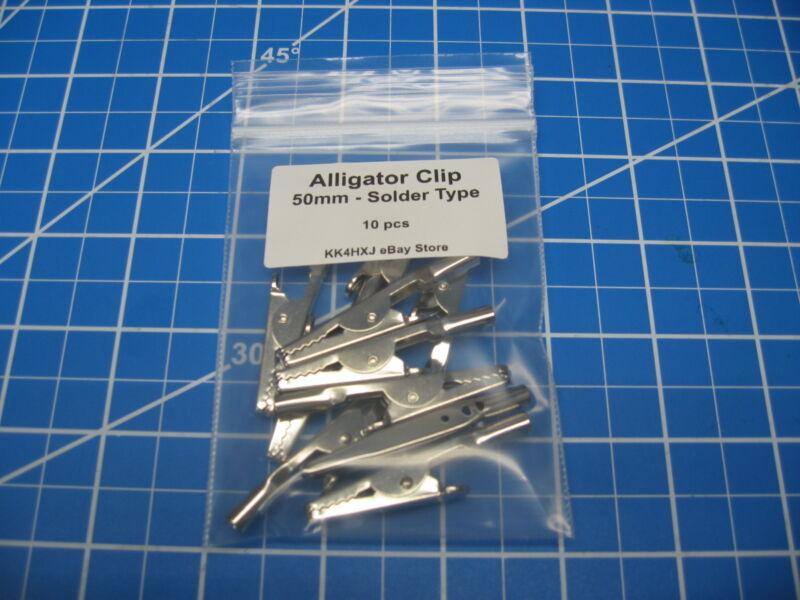 Test Clip - Alligator Clip - Metal - 50mm - 10 Pcs