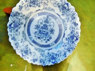 1 NEW OTHER ARCOPAL HONORINE BLUE & WHITE MILK GLASS SOUP CEREAL BOWL FRANCE