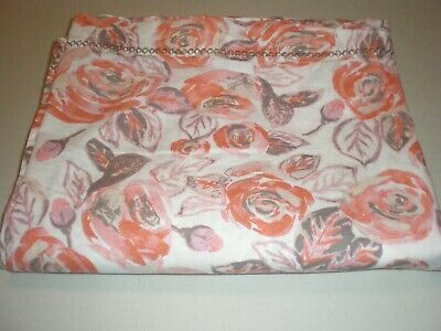 Target Opalhouse King Flat Sheet Coral Rose Embroidered Bohemian Desert NEW - Coral Flat Sheet