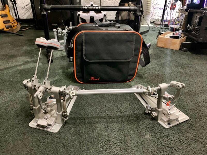 Pearl P3002D Demon Drive Eliminator Bass Drum Double Pedal w/ case