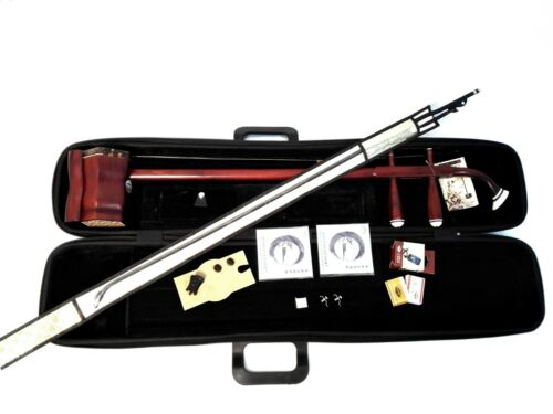 Chinese Erhu,Solid Rosewood w/EVA Hard Case,Tuner,Extra Strings,Rosin,Erhu Mute