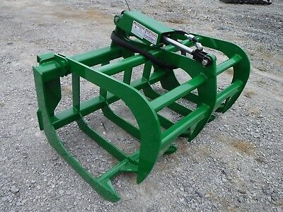 John Deere Compact Tractor Attachment - 48 Root Rake Grapple Bucket - Free Ship