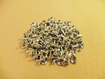 Double Cap Rapid Rivets 7 16  Nickel Plated  100 Pack