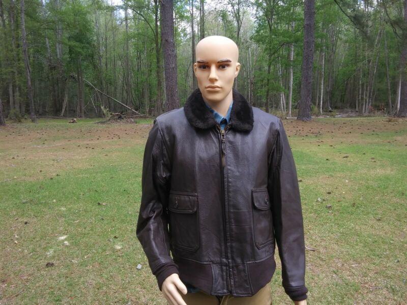 Vintage US Navy Leather Jacket Type G1 Star Sportswear Size 44