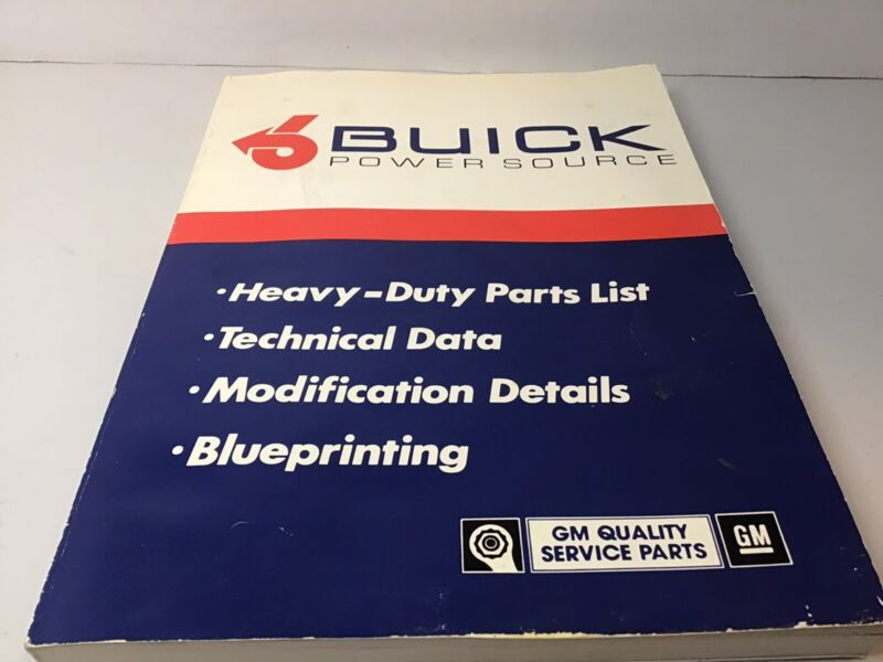 Buick Power Source Manual Stage 1,2 V6 GNX and Grand National Engines 1980's GM