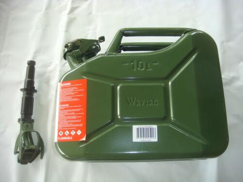 Authentic Wavian Original NATO Jerry Can w/Spout OD Green 2.6 Gal. (10L) #3014