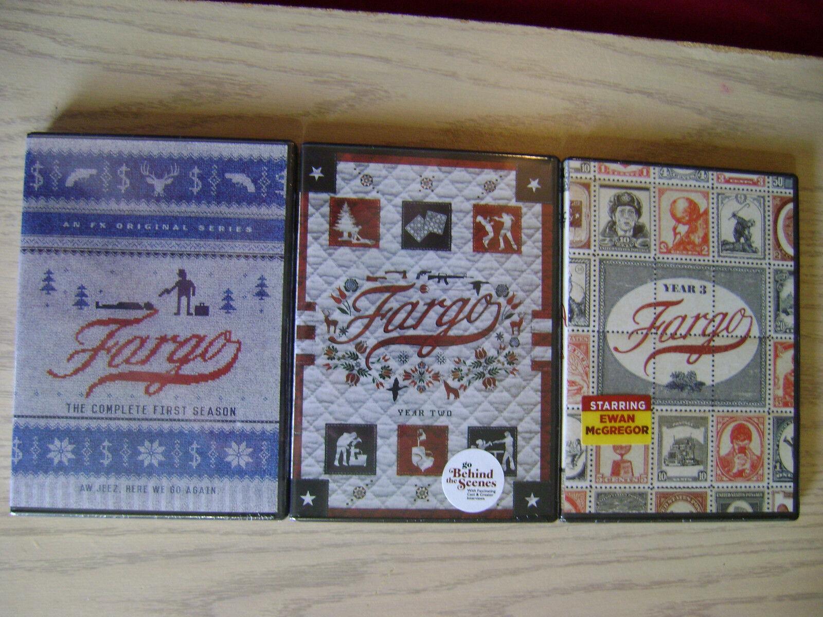 FARGO SEASON 1, 2 & 3 DVD COMPLETE TV SERIES NEW +BONUS FEAT