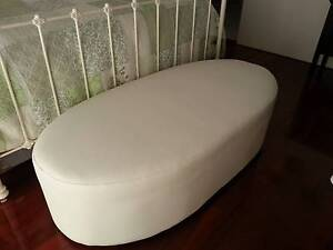 WHITE LEATHER OVAL OTTERMAN Alkimos Wanneroo Area Preview