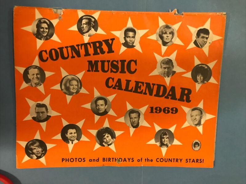 JB719 Rare 1969 Country Music Calendar Charlie Pride Buck Owens Heather Publish
