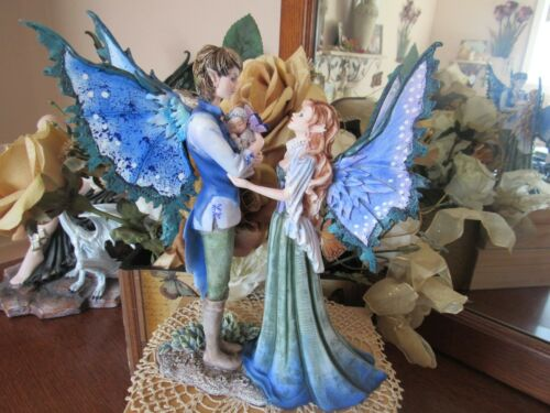 """9 1/2"""" Amy Brown FAIRY FAMILY with baby Fairy Figurine Brand New In Box!"""