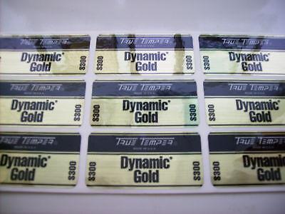 9 (Nine) True Temper Dynamic Gold S300 Golf Club Shaft Band Labels