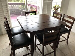 MOVING SALE - Dark brown dining table