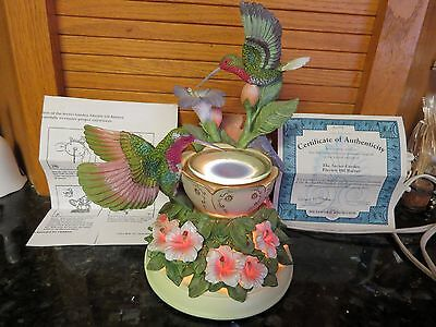 FAB Bradford SECRET GARDEN Electric Oil Burner FAB COLOR HUMMNGBIRDS Certif Auth