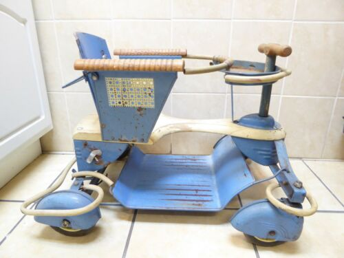 Vintage Rare Taylor Tot Metal Stroller Walker Fenders RARE Reclining Seat Back !