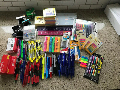 Lot Of Office School Supplies Sharpie Post-it Pilot Scotch Pentel And More