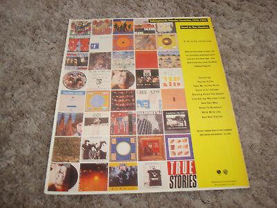 "TALKING HEADS ad for hit ""True Stories"" David Byrne & ALAN JACKSON"