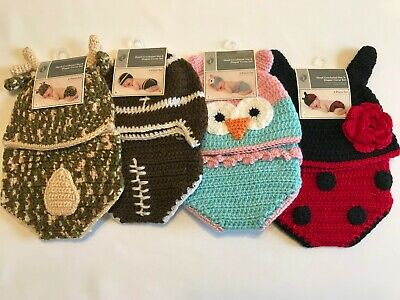 Hand Crocheted Hat and Diaper Cover Set For Newborn Photos 2 Piece Set (Diaper Cover Set)