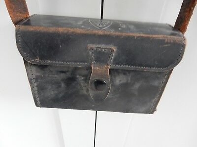 EARLY LEATHER INSTRUMENT CASE    Wallace & Tiernan. Ltd CHLORINATION