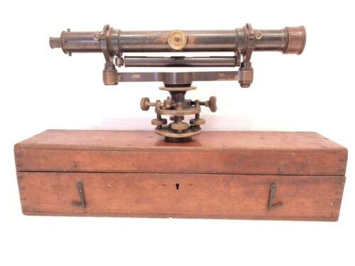 RARE LARGE ANTIQUE 1860 NEGRETTI & ZAMBRA SURVEYING EQUIPMENT SURVEYOR LEVEL