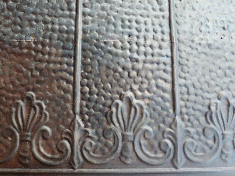 Ceiling Tin Tile Antique Metal Vintage Home Decor Craft #24 industrial Art