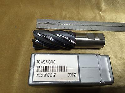 Hanita Tc123738009 1.5 X 1.25 X 3. X 5.5 6f M42 Cobalt Ticn Finishing End Mill