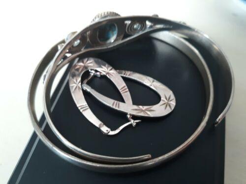 Sterling silver 925 large bangle bracelet 44.3grams