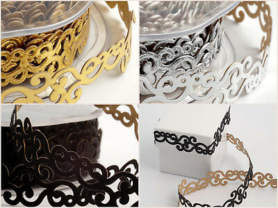 Self Adhesive Curl Ribbon - 18mm x 10m Gift Wrap Photo Album Decor Lace Ribbon Curls