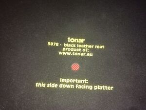 Tonar Leather turntable mat