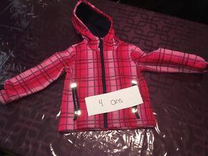 Manteau printemps automne fille 4 ans