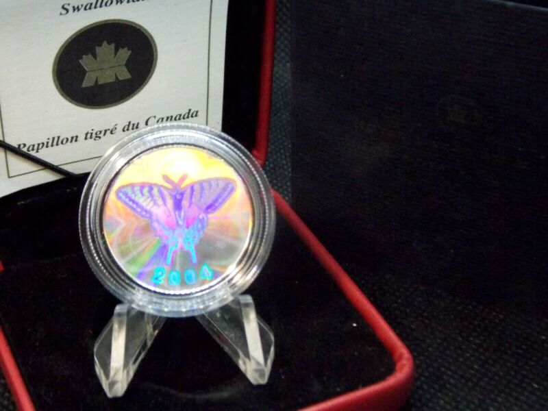 2004 Canada 50C Sterling Silver Tiger Swallowtail Butterfly Collection ECC&C Inc
