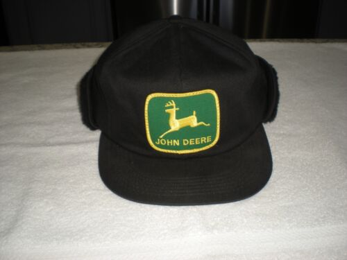 Vintage John Deere Winter K - Brand Products Hat Ear Flaps Made In U.S.A.