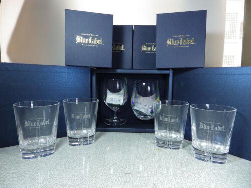 Johnnie Walker Blue Label Crystal Glasses Set and 4x Glasses NEW