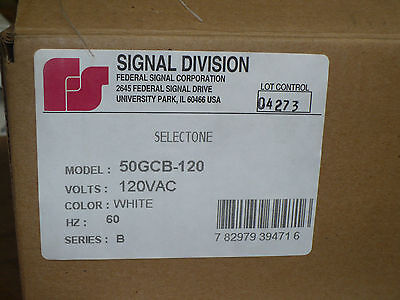Federal Signal 50gcb-120 Ceiling Mount Speaker 120 Vac 60 Hz White New