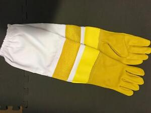 Beekeeping Equipment Golden Sheepskin Protective Gloves Carole Park Ipswich City Preview