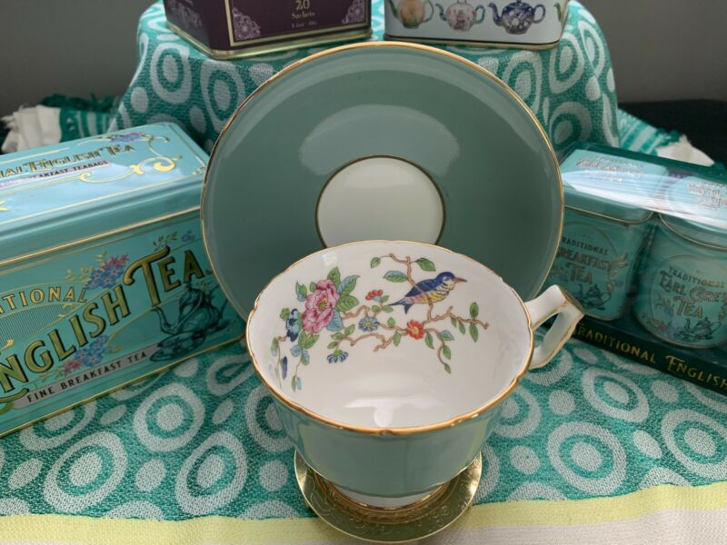 Vintage 1950s Aynsley English Bone China Teacup and Saucer - #2902