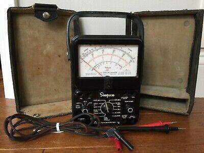 Simpson 260 Series 7 Ohm Multimeter Worig Hard Case Leads Works No Manual